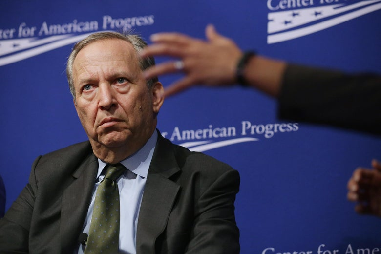 Larry Summers at a Center for American Progress event.
