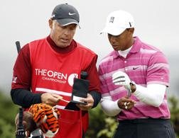 Tiger Woods and Steve Williams. Click image to expand.