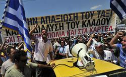 Protests in Greece. Click image to expand.