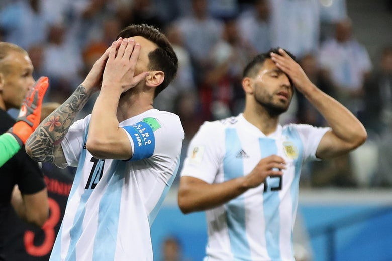 ac1d9aaea Argentina and Messi will be exiting the 2018 FIFA World Cup if they ...