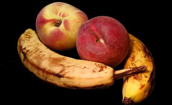 Damaged fruit.