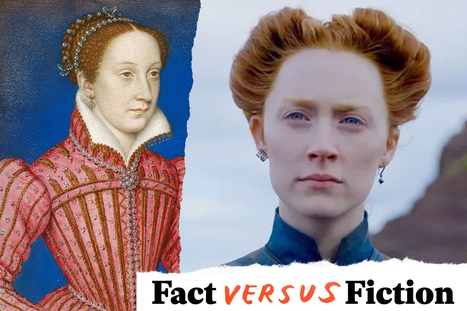 Portrait of Mary, Queen of Scots, and Saoirse Ronan as Mary, Queen of Scots