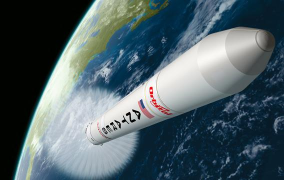 Antares on its way to orbit