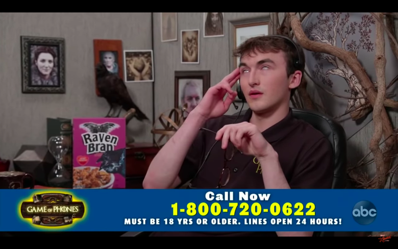 Bran Stark Helps Game of Thrones Hotline Callers Find Their Keys (and Predicts Their Deaths)