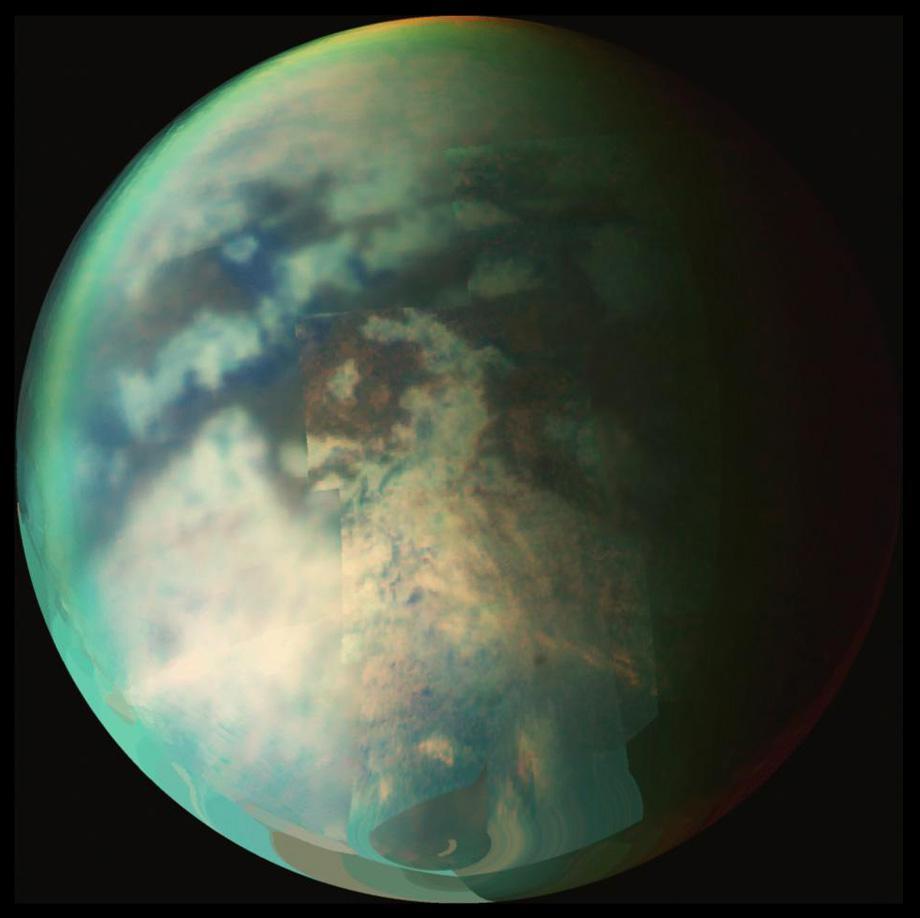 titan saturn methane rainstorm photo.