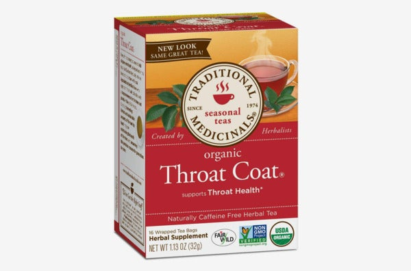 Traditional Medicinals Organic Throat Coat Seasonal Tea.