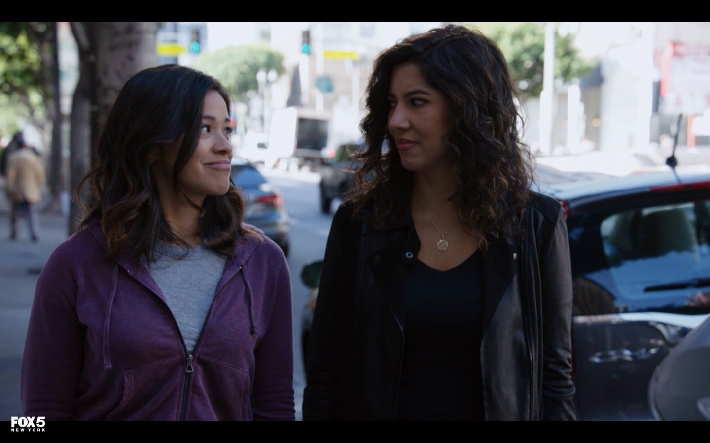 Rodriguez as Alicia and Beatriz as Rosa Diaz in the Season 5 finale of Brooklyn Nine-Nine.