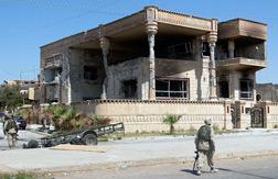 The house where Saddam Hussein's sons Uday and Qusay were killed in Mosul, Iraq.