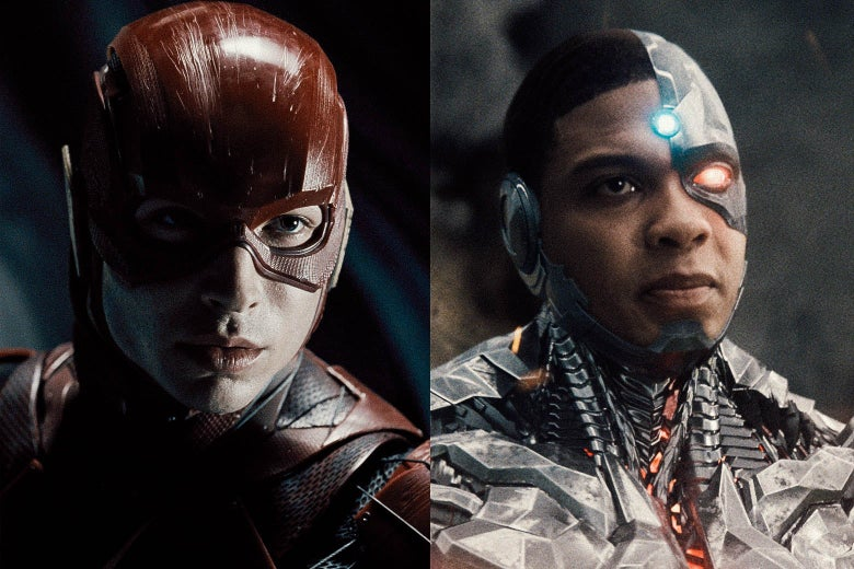 The Flash and Cyborg.