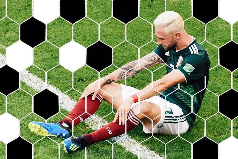 Mexico's Miguel Layun sad after loss.