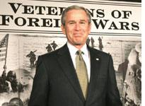 George Bush at the VFW. Click image to expand.