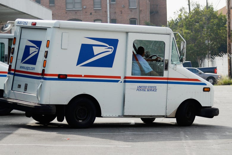 A USPS truck