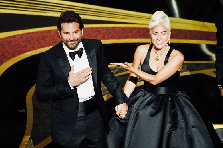 Bradley Cooper and Lady Gaga perform onstage during the 91st Annual Academy Awards on Sunday.