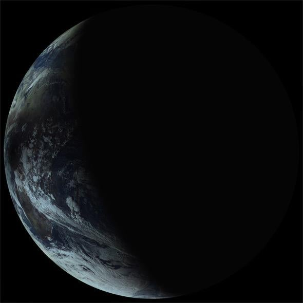 Elektro-L view of the eclipse