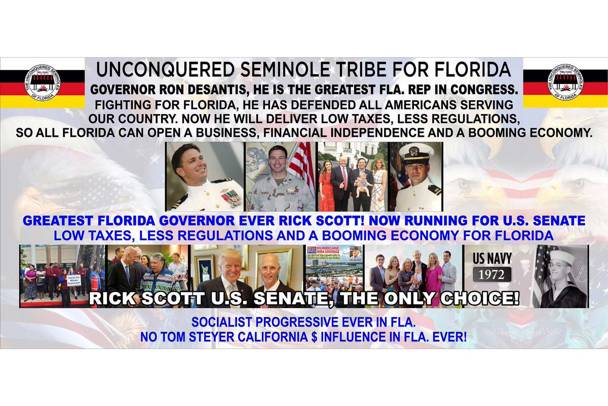 """Unconquered Seminol Tribe For Florida"" meme"