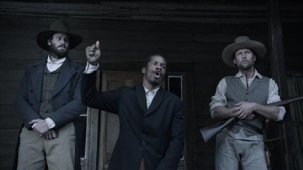 Nate Parker as Nat Turner.
