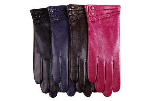 Four multi-colored Warmen leather gloves.
