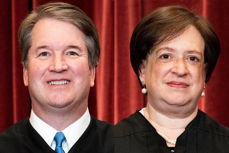 Justices Brett Kavanaugh and Elena Kagan.