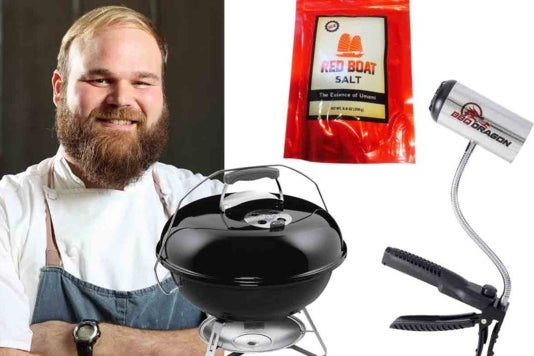 John-Paul Bourgeois and the Weber Jumbo Joe, Red Boat Salt, and BBQ Dragon.