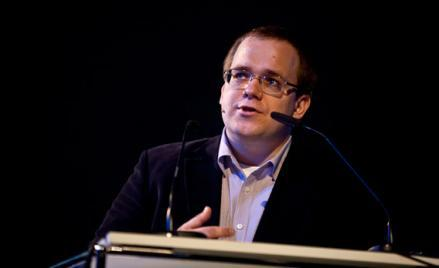 Evgeny Morozov at re:publica10 conference, April 14, 2010, Berlin, Germany.