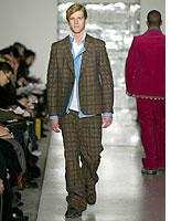 A takeoff on the classic tartan suit