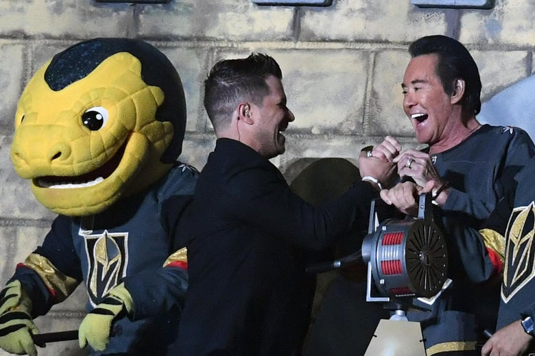The Vegas Golden Knights' bonkers pre-game ceremonies (and