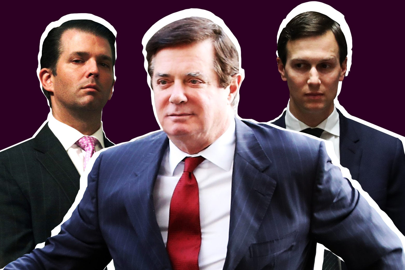Donald Trump Jr., Paul Manafort and White House Senior Advisor Jared Kushner