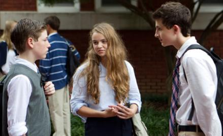 Jackson Pace as Chris Brody, Morgan Saylor as Dana Brody, and Timothee Chalamet as Finn Walden in HomelandHOMELAND (Season 2).