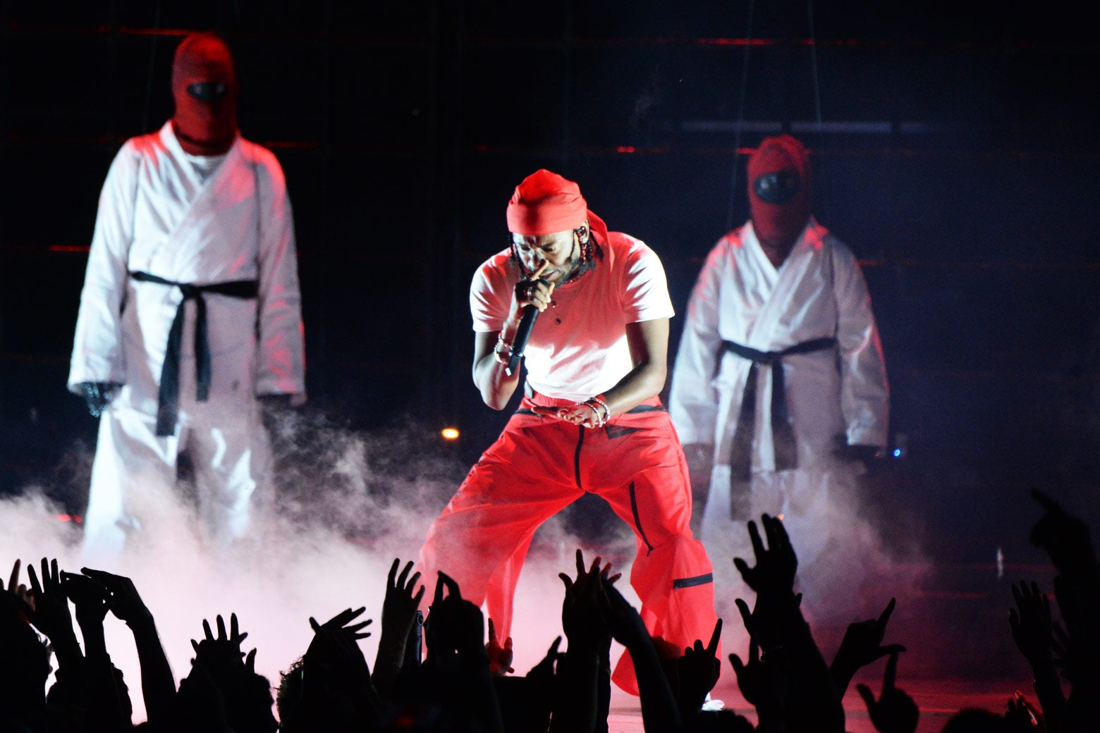 Kendrick Lamar performs during the MTV Video Music Awards.
