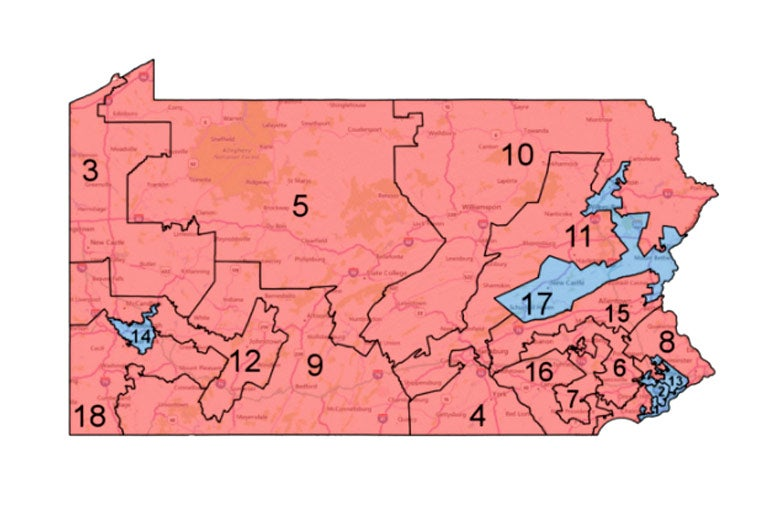 Pennsylvania's current Republican gerrymander.