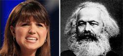 Senate candidate Christine O'Donnell and Karl Marx. Click image to expand.
