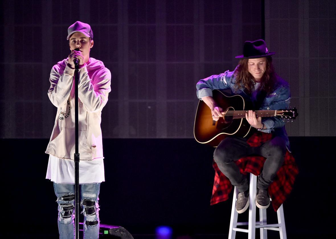 Justin Bieber, acoustic balladeer.