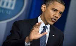 President Barack Obama during the June 8 press conference
