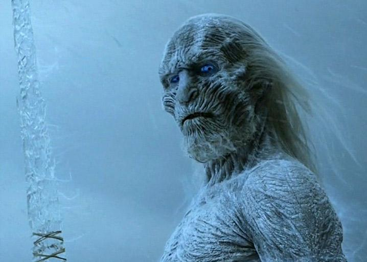 White Walker in Game of Thrones.