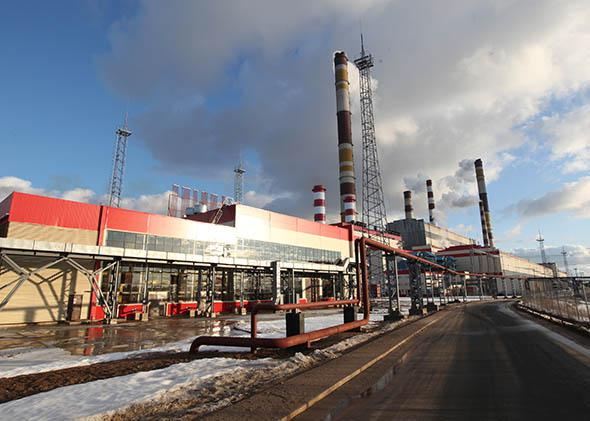 The Kirishi Thermal Power Station on March 23, 2012 in Kirishi, 140 km, east of St. Petersburg, Russia. During a one-day trip to the region, Vladimir Putin stated that gas export monopoly, Gazprom would not receive additional tariff increases to help with rising mineral extraction tax.