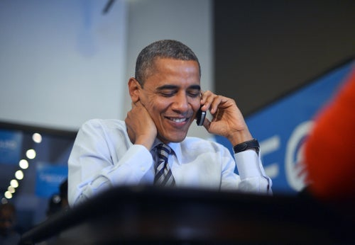 Obama-AUDIO: President calls to congratulate Kris Perry and Sandy Stier.