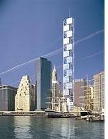 Santiago Calatrava's proposed 80 South Street tower. Click image to expand.