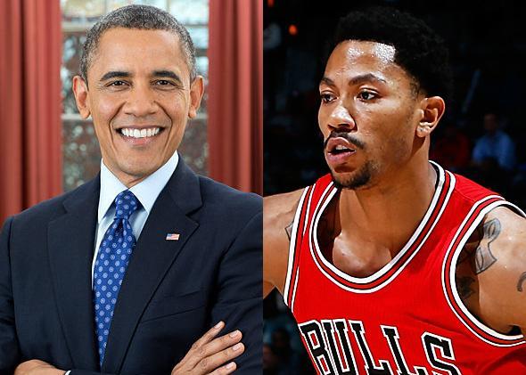 Barack Obama, Derrick Rose