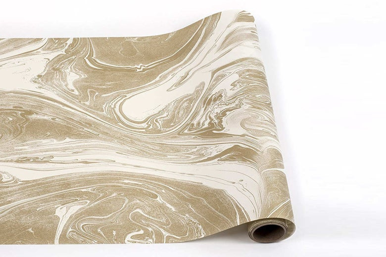 Gold Marbled Table Runner Paper