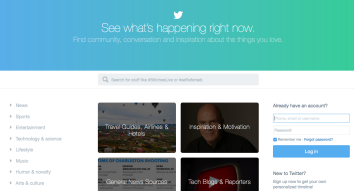 Twitter logged-out homepage