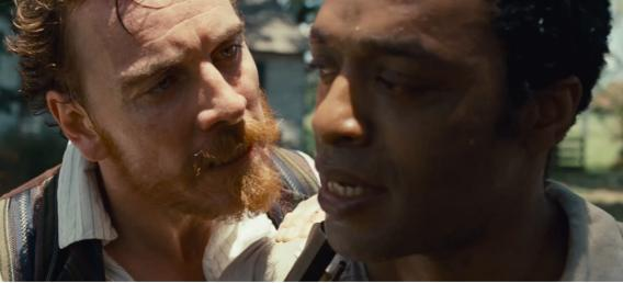 Michael Fassbender and Chiwetel Ejiofor in 12 Years a Slave