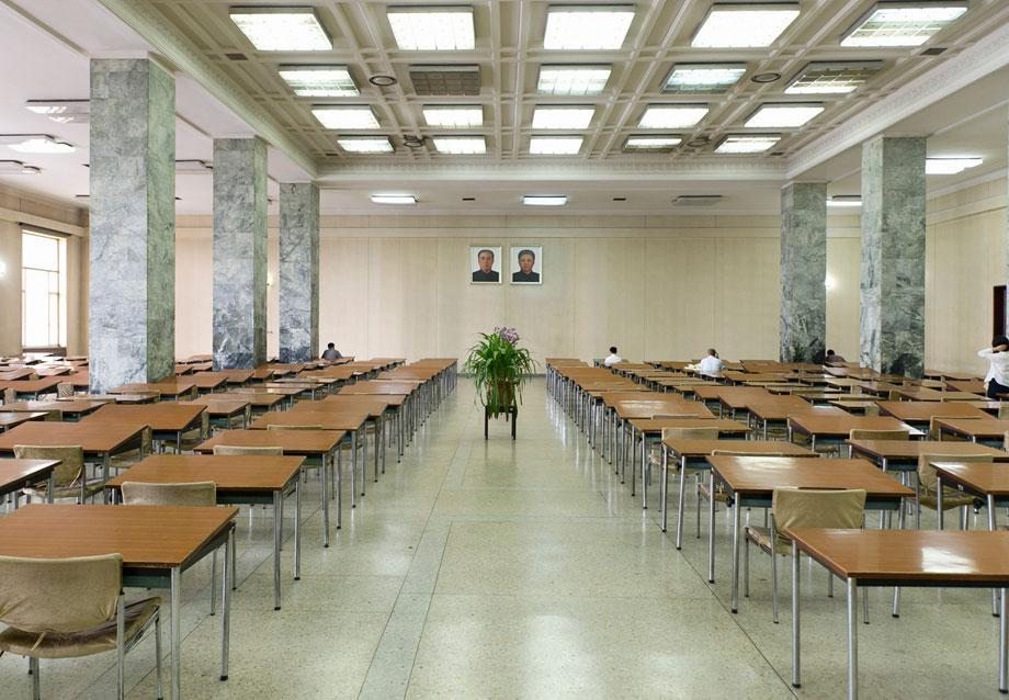 Grand People's Study House, North Koreas biggest library and educational centre.  It has a total floor space of 100,000m2 and 600 rooms. Foreign publications are available only with special permission.