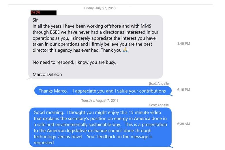 Screenshot of a text conversation