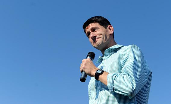 US Republican presidential candidate Mitt Romney's running mate Paul Ryan.