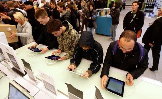 The first day Apple's iPad went on sale in Europe on May 28, 2010 in Berlin, Germany.