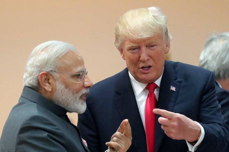 President Trump and Indian Prime Minister Narendra Modi.
