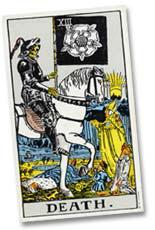 This Rider-Waite tarot card is the same style as that found at the crime scene