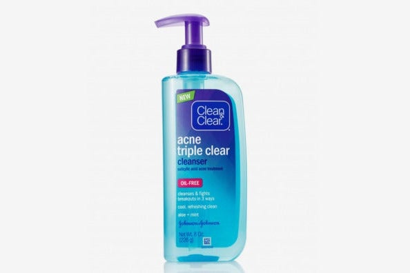 Clean & Clear Acne Triple Clear Facial Cleanser With Salicylic Acid