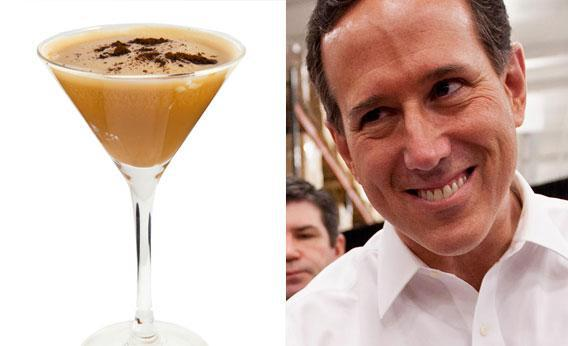 Cocktail photo by Artbox via Shutterstock http://www.shutterstock.com/gallery-288586p1.html  and photo of GOP Presidential Candidate Rick Santorum by Whitney Curtis/Getty Images.