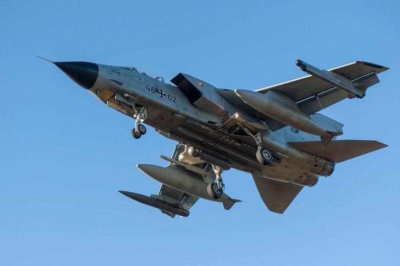 A German Tornado fighter aircraft